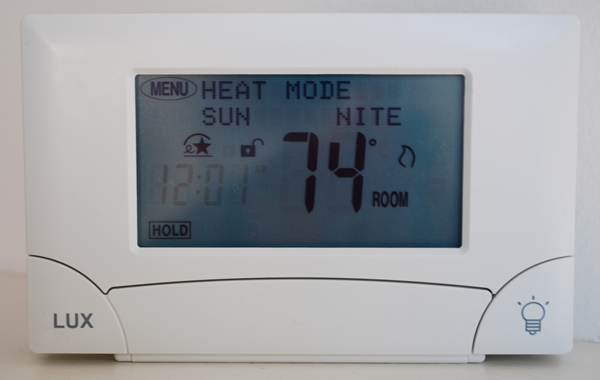 Example of a programmable thermostat
