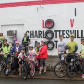 Participants from the 2019 Public Art Bike Ride
