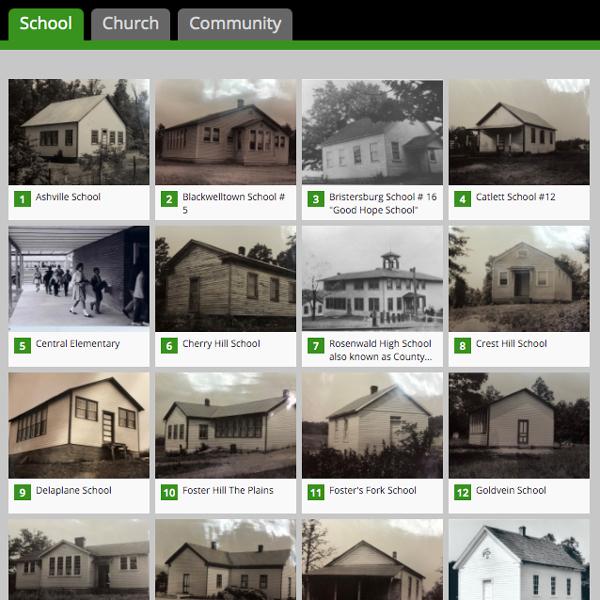 screenshot of school list from aaha story map