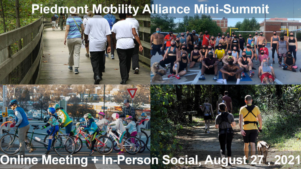 Piedmont Mobility Alliance Mini-Summit graphic with images of people outdoors