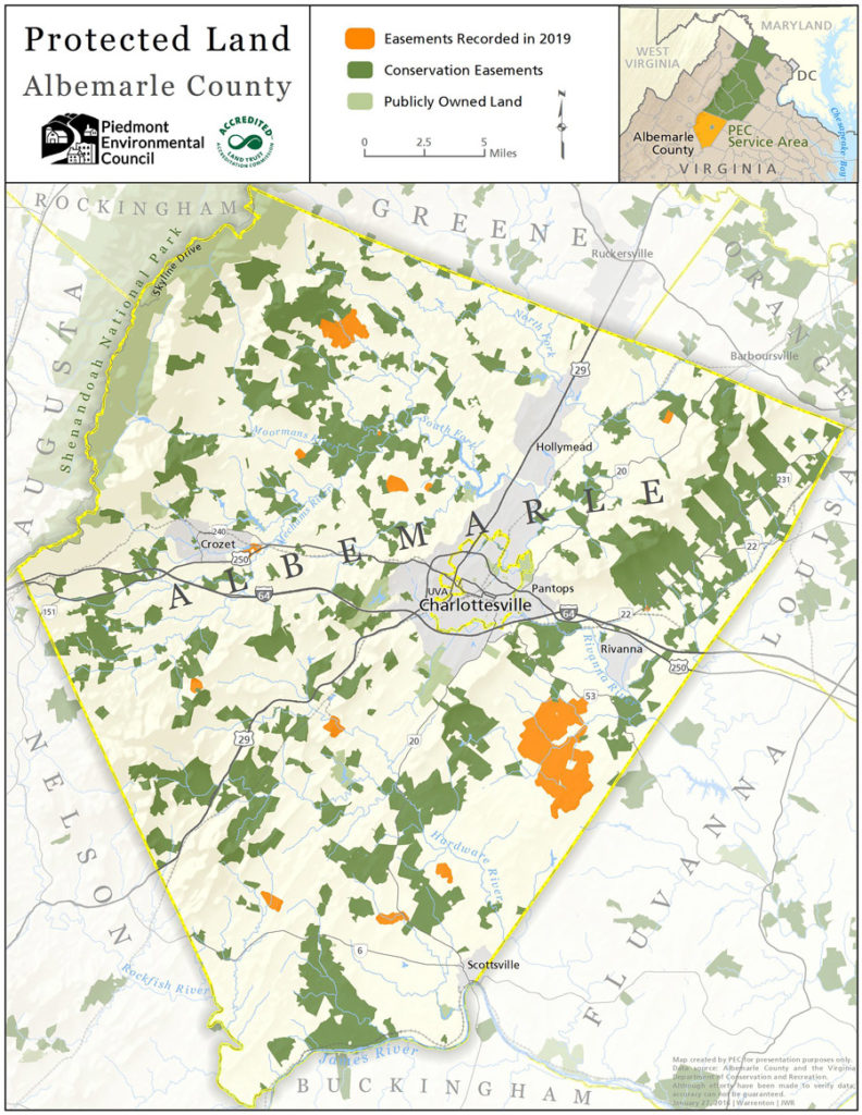 albemarle county conservation easement map 2019