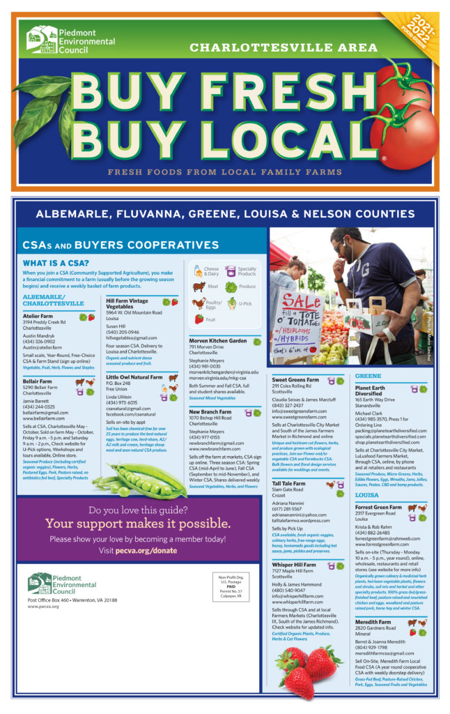Buy Fresh Buy Local C'ville Guides Connect Consumers with Local Food and Farms