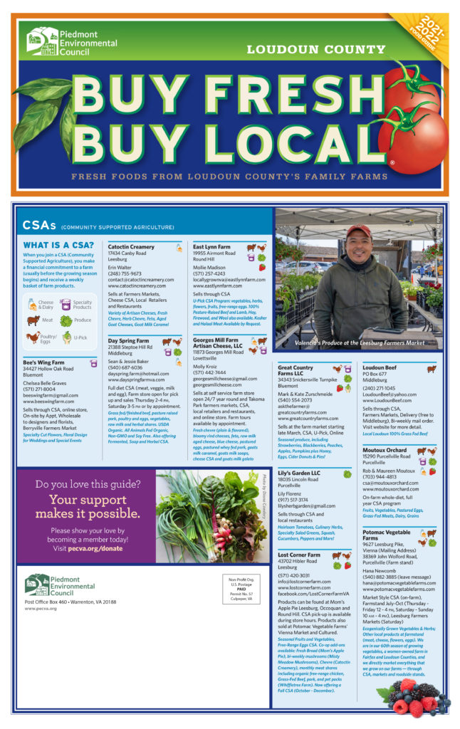 Buy Fresh Buy Local Loudoun Guides Connect Consumers with Local Food and Farms