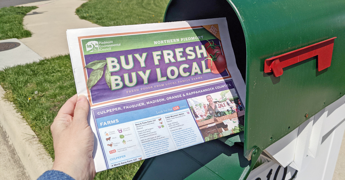 buy fresh buy local guide in a mailbox