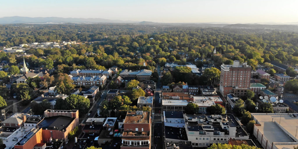 aerial of charlottesville