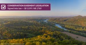 conservation easement sb1199 hb1760 banner aerial image of potomac river