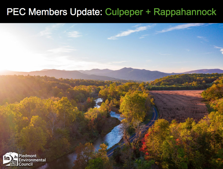 Online Event: Local Update for PEC Supporters in Culpeper & Rappahannock