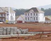 Crozet House under construction