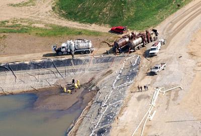 fracking impoundment