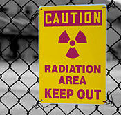 Radiation Keep Out sign
