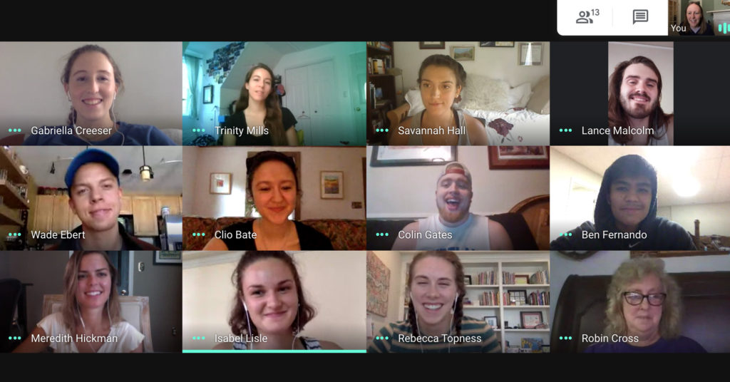 2020 fellows on google hangouts