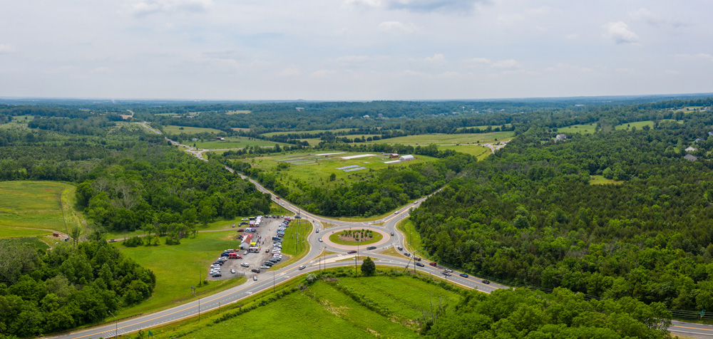 Aerial view of Gilberts Corner. Photo by Hugh Kenny.