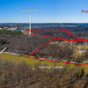 aerial photo of goose creek overlook rezoning looking southeast