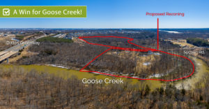 aerial of proposed goose creek overlook rezoning