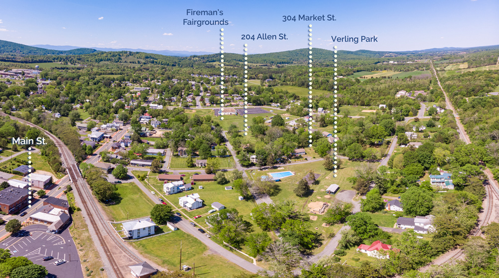 Gordonsville Park System Drone image with labels