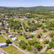 Gordonsville park system drone image