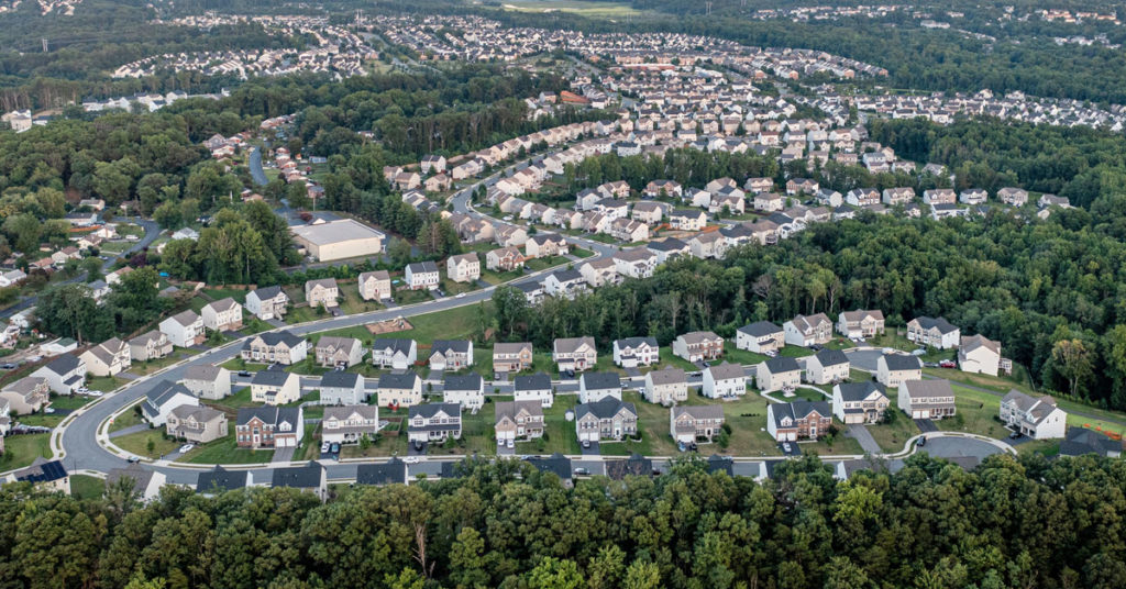 residential development seen from a drone
