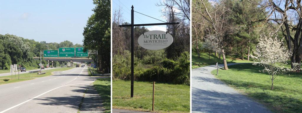 Trio of Monticello Trail images.