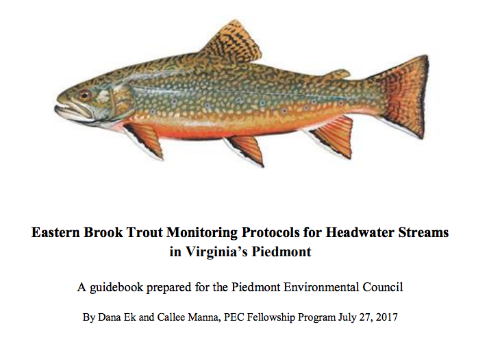 Eastern Brook Trout Monitoring Protocols for Headwater Streams in Virginia's Piedmont