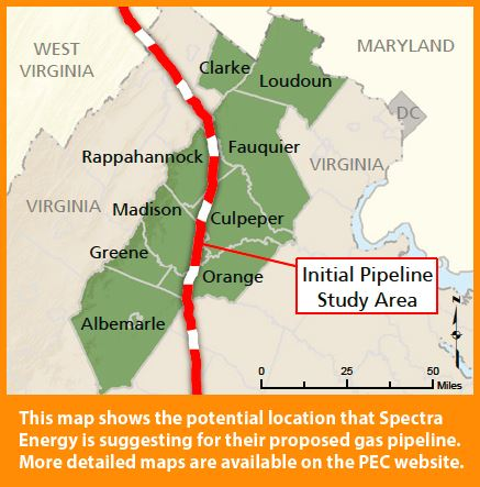 Proposed Natural Gas Line