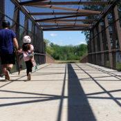 McIntire Park pedestrian bridge