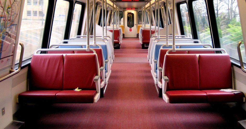empty metro car