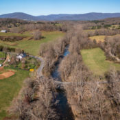 Aerial image of the Moormans River.