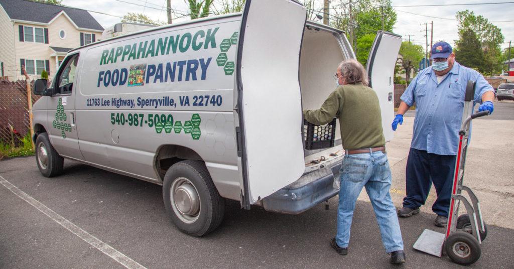 Rappahannock Food Pantry van accepting dairy donation