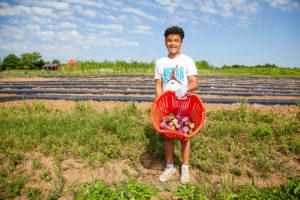 Community farm volunteer Jaiden