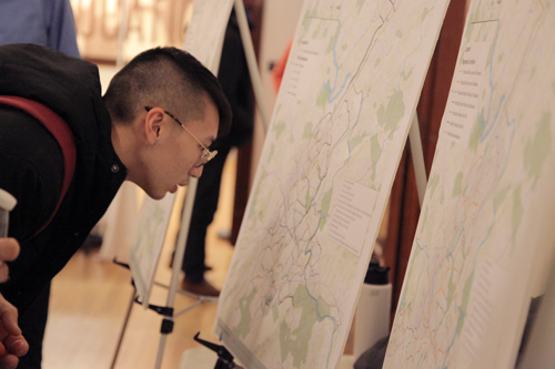looking at a bike map
