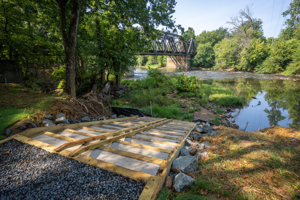 New boat launch on the Rappahannock River