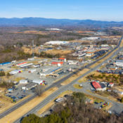 aerial photo of ruckersville, virginia