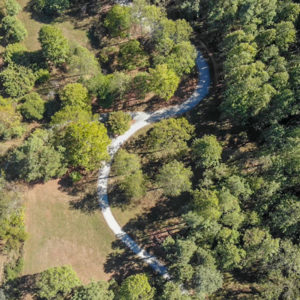 drone photo of trail