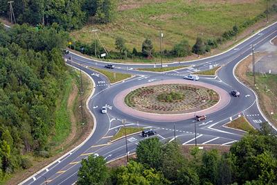 roundabout at Gilbert's Corner
